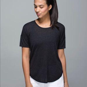 Lululemon Black Knit Daya Cashmere Blend T-Shirt 6